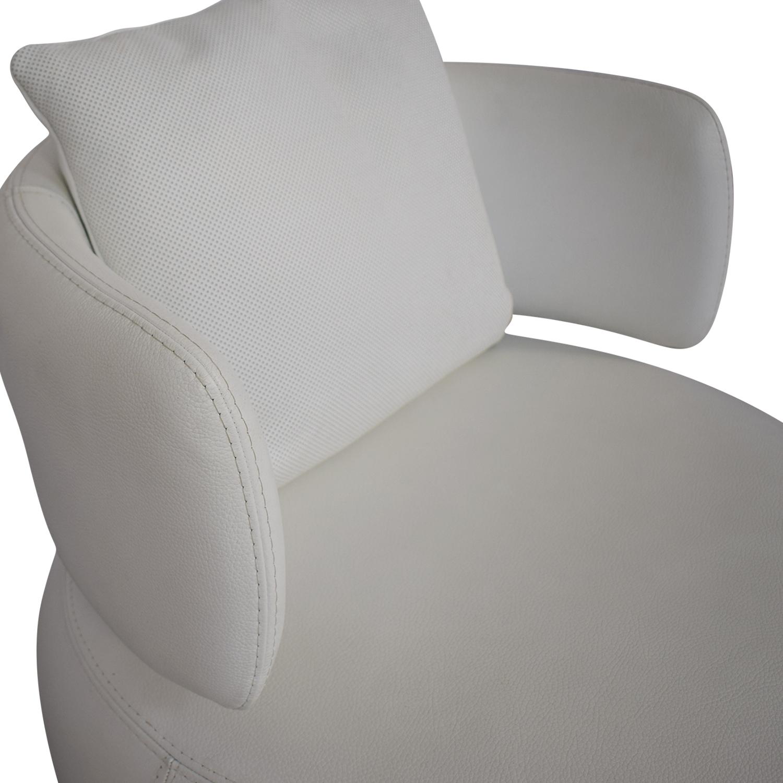 Roche Bobois Roche Bobois Curl Swivel Armchair white