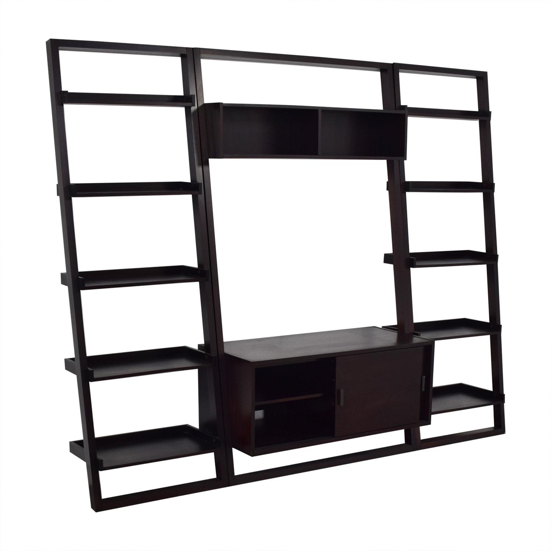 shop Crate & Barrel Sawyer Media Unit and Bookcases Crate & Barrel