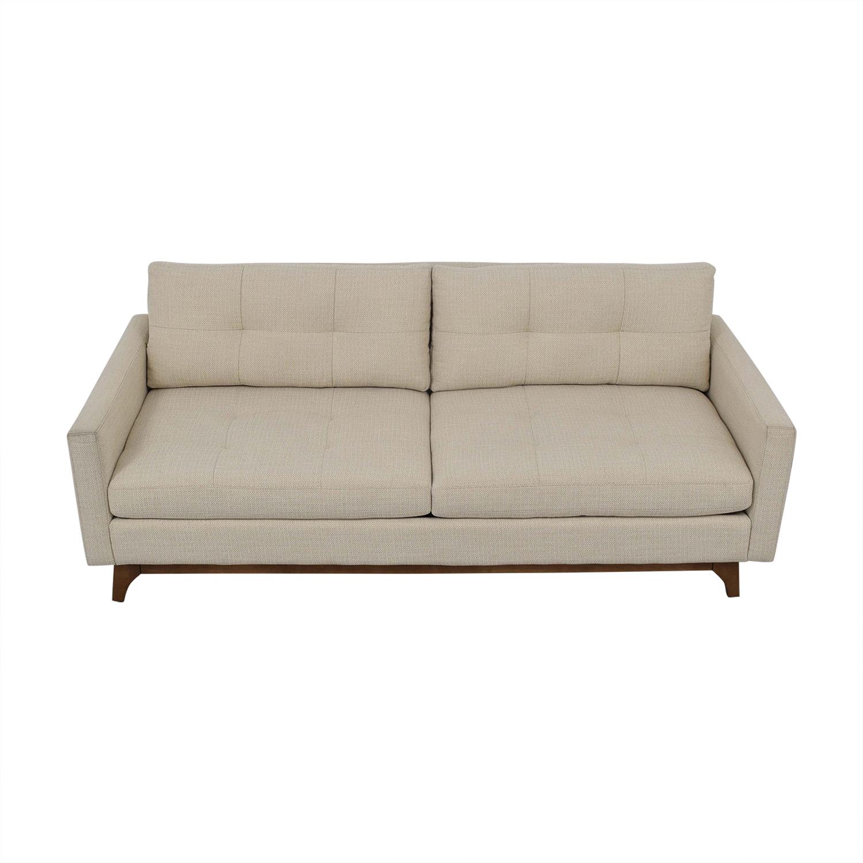 Macy's Macy's Nari Fabric Tufted Sofa second hand