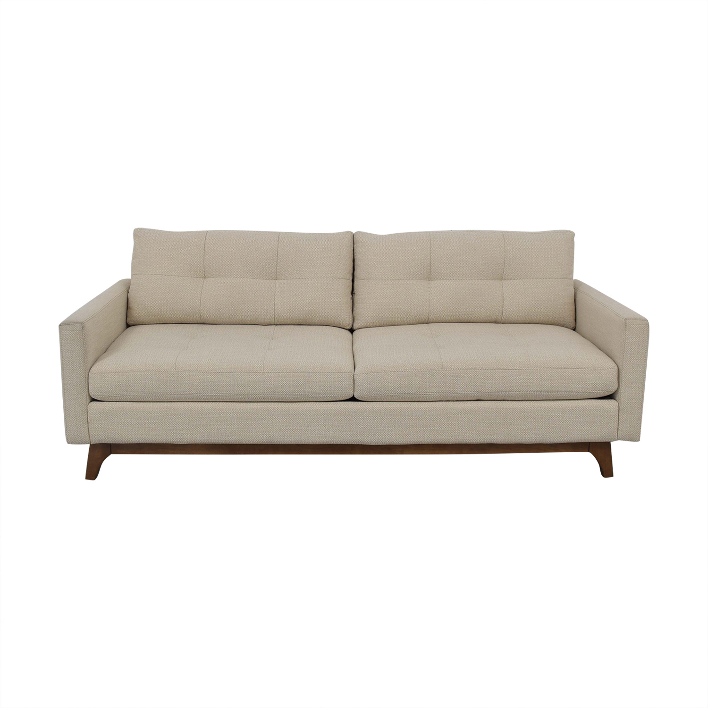 Macy's Macy's Nari Fabric Tufted Sofa for sale