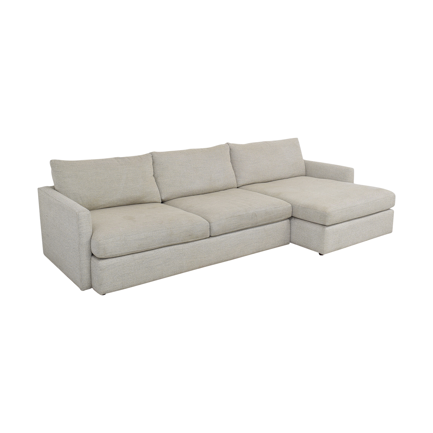 buy Crate & Barrel Lounge II 2-Piece Sectional Sofa Crate & Barrel Sectionals