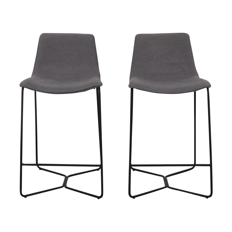 Strange 68 Off West Elm West Elm Slope Upholstered Bar Stools Chairs Camellatalisay Diy Chair Ideas Camellatalisaycom