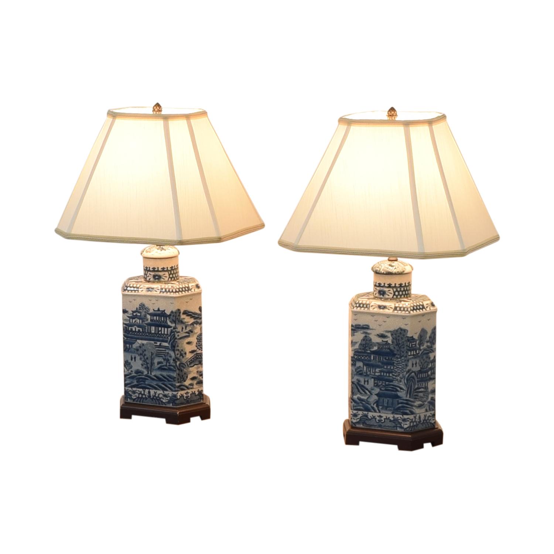 Ethan Allen Ethan Allen Chinoiserie Tea Caddy Lamp coupon