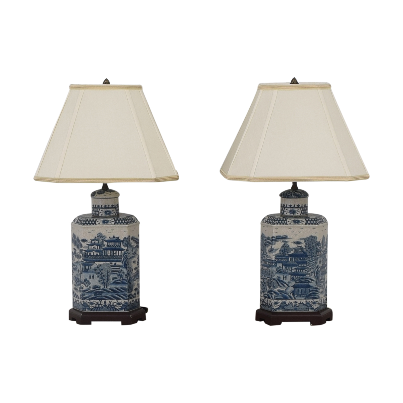 Ethan Allen Ethan Allen Chinoiserie Tea Caddy Lamp second hand