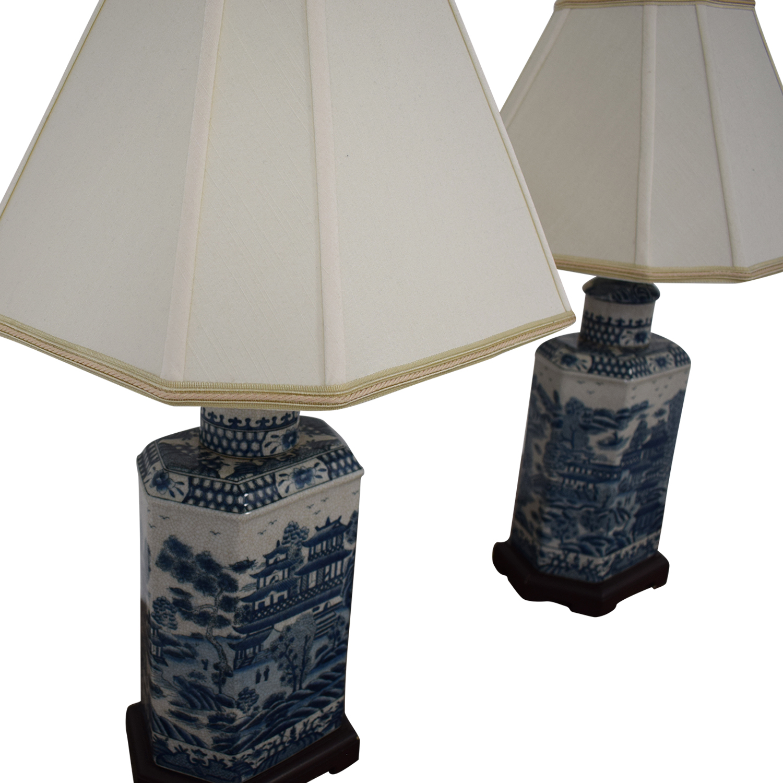 Ethan Allen Ethan Allen Chinoiserie Tea Caddy Lamp nj