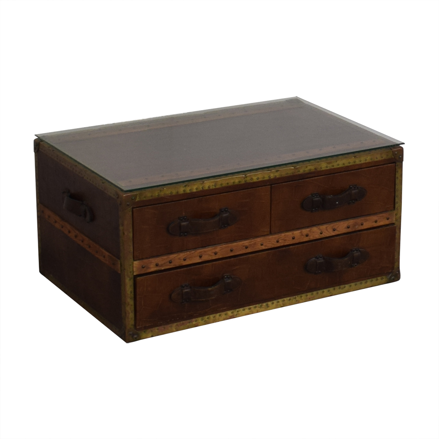 ABC Carpet & Home ABC Carpet & Home Steamer Trunk Coffee Table second hand