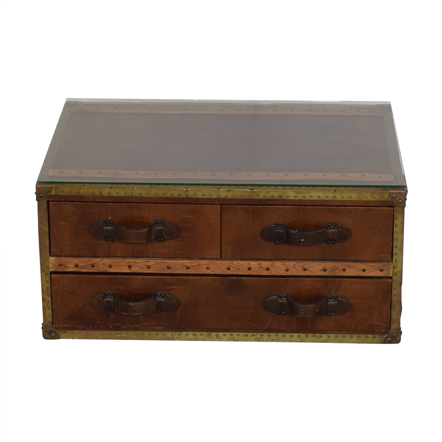 ABC Carpet & Home ABC Carpet & Home Steamer Trunk Coffee Table for sale