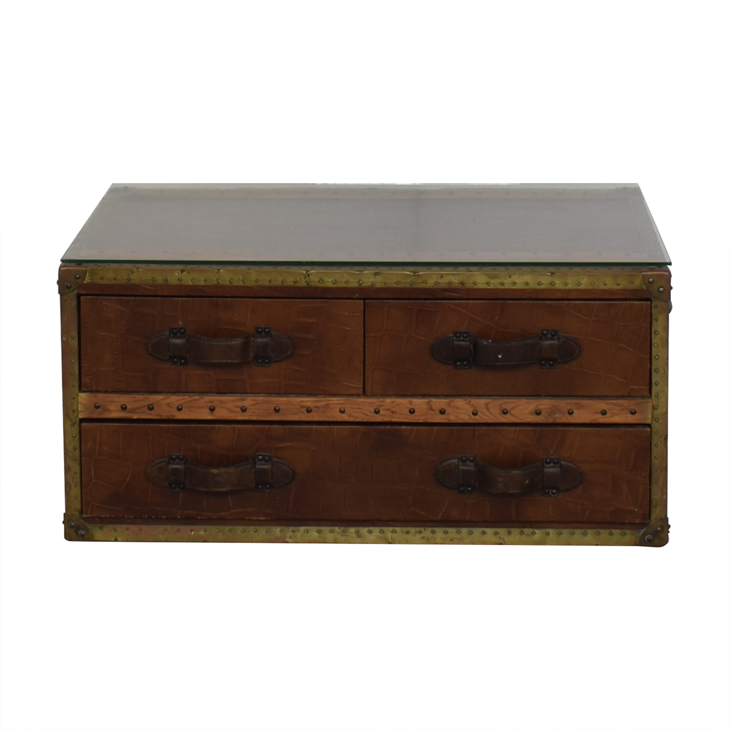 ABC Carpet & Home Steamer Trunk Coffee Table / Tables