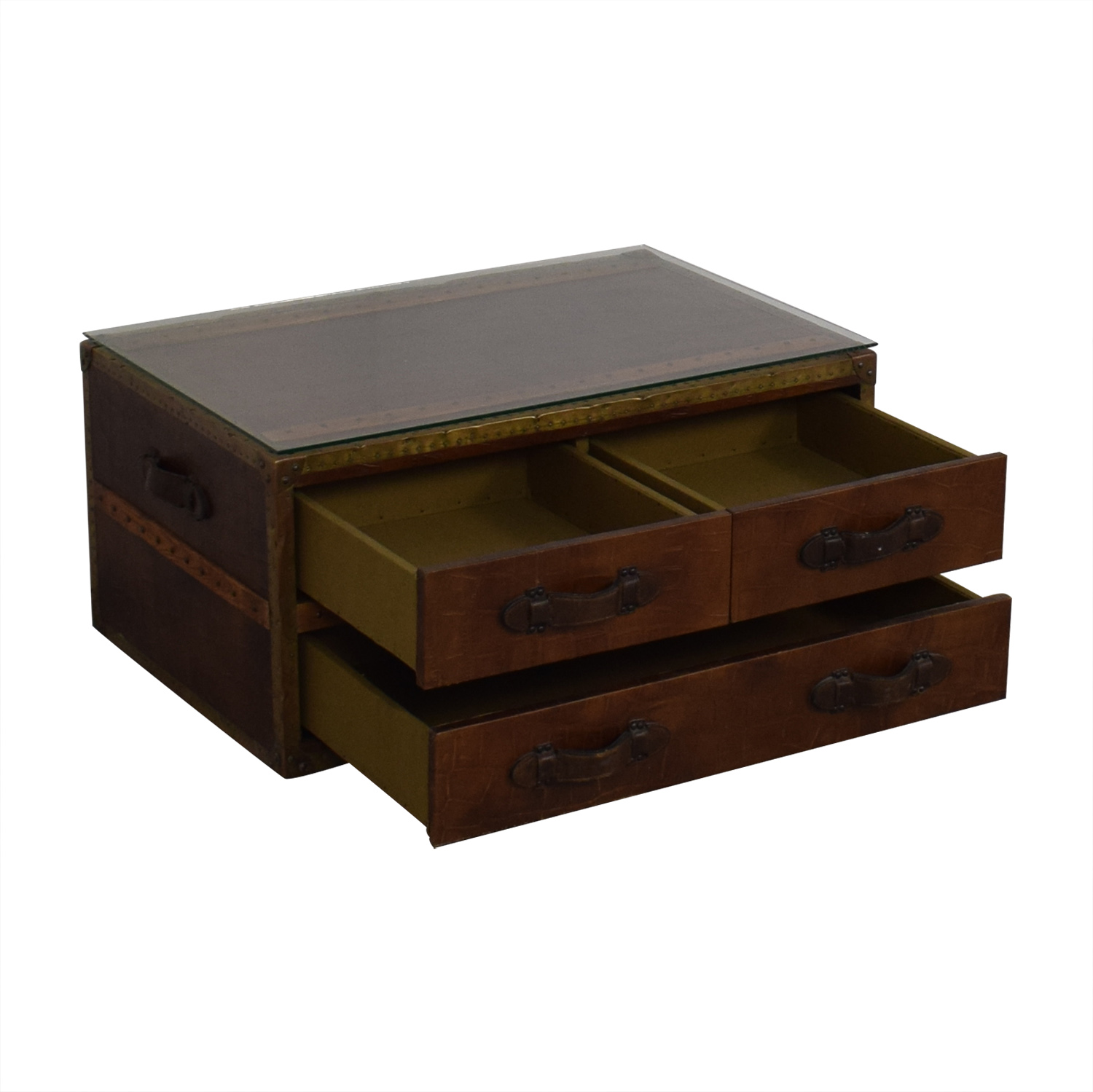 ABC Carpet & Home Steamer Trunk Coffee Table ABC Carpet & Home