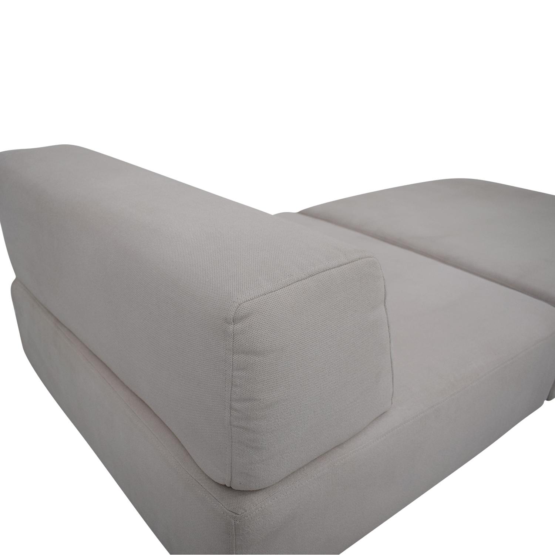 West Elm West Elm Tillary White Chaise Lounge Sofas
