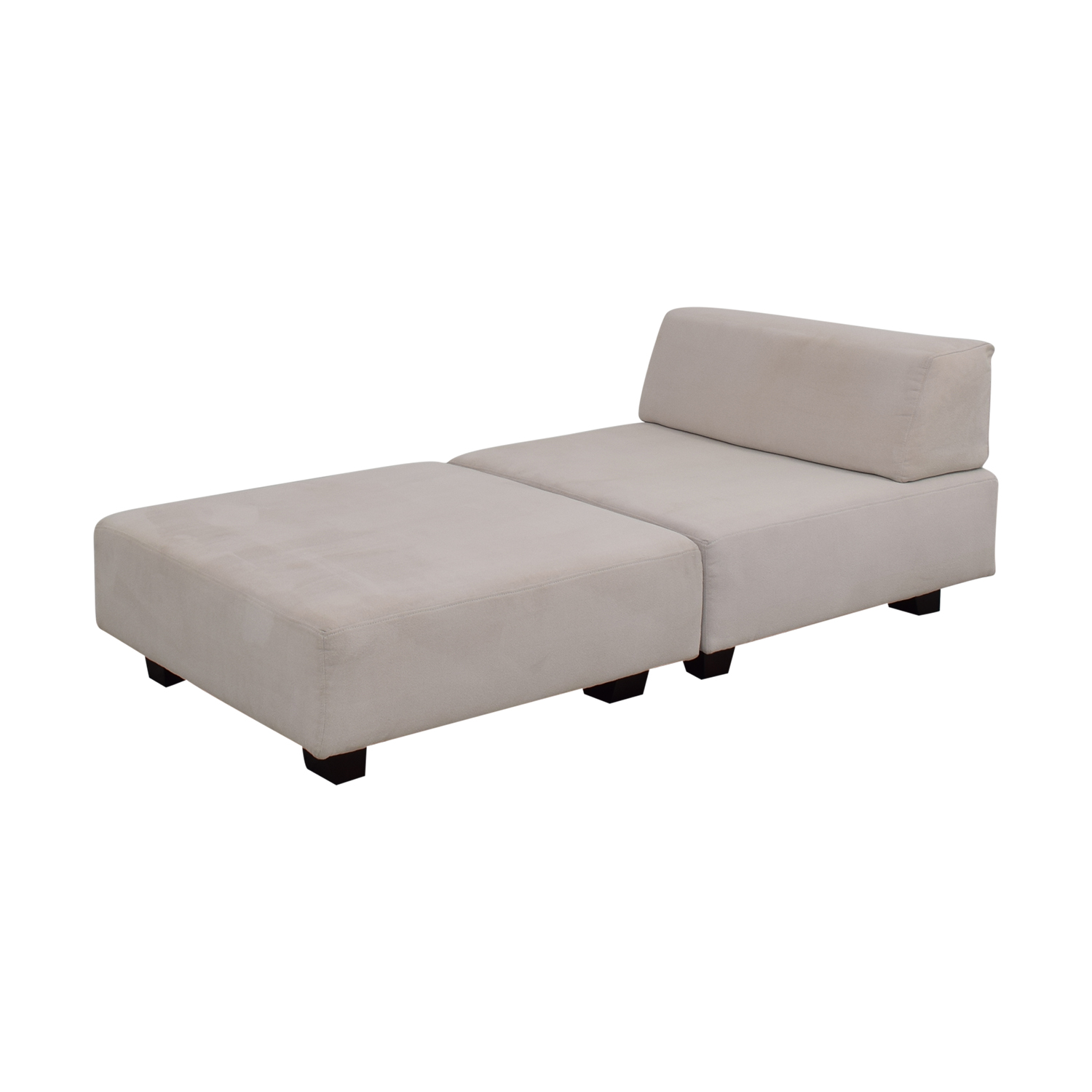 West Elm West Elm Tillary White Chaise Lounge dimensions