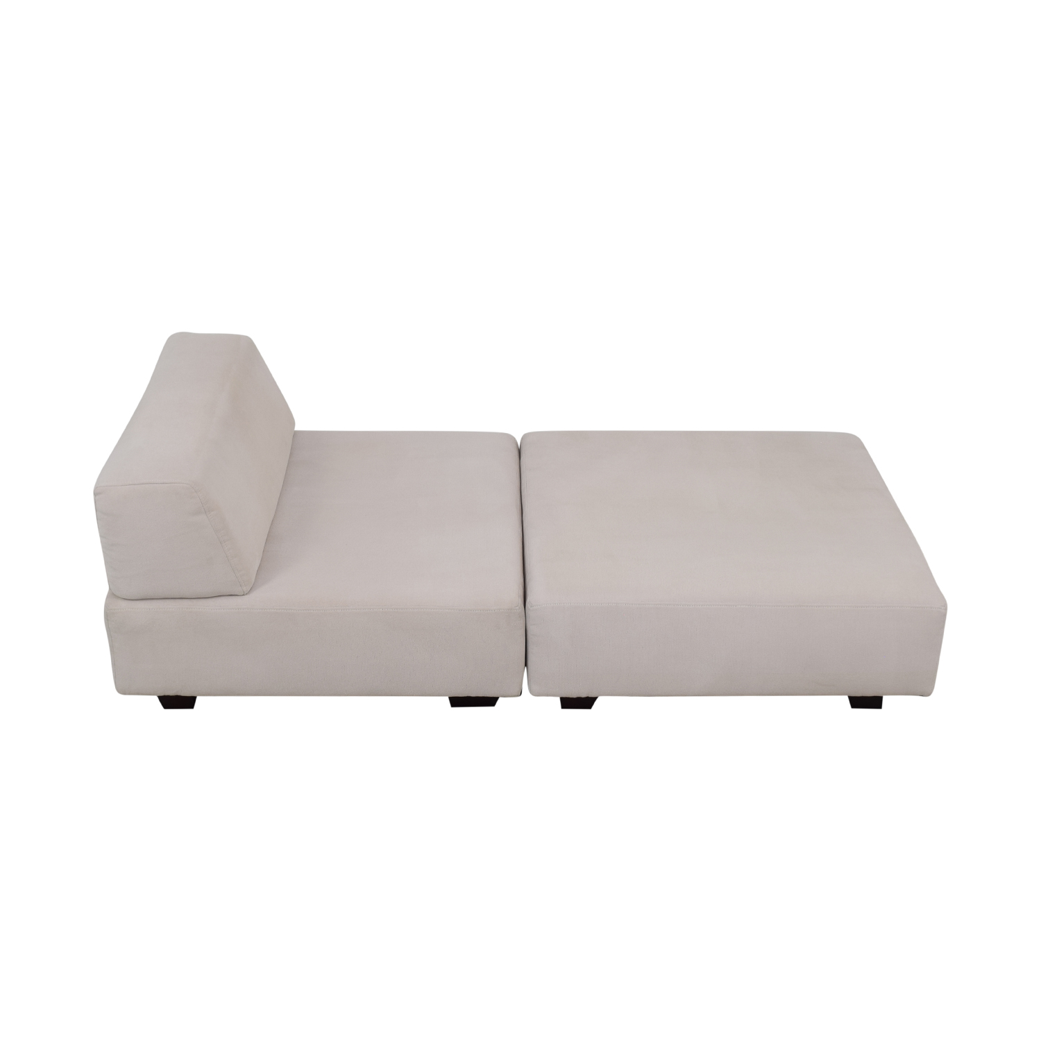 West Elm West Elm Tillary White Chaise Lounge discount