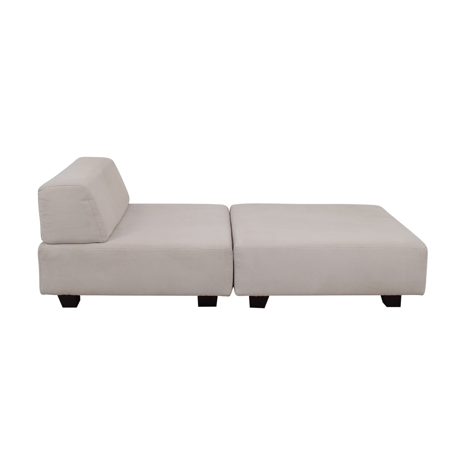 West Elm Tillary White Chaise Lounge West Elm