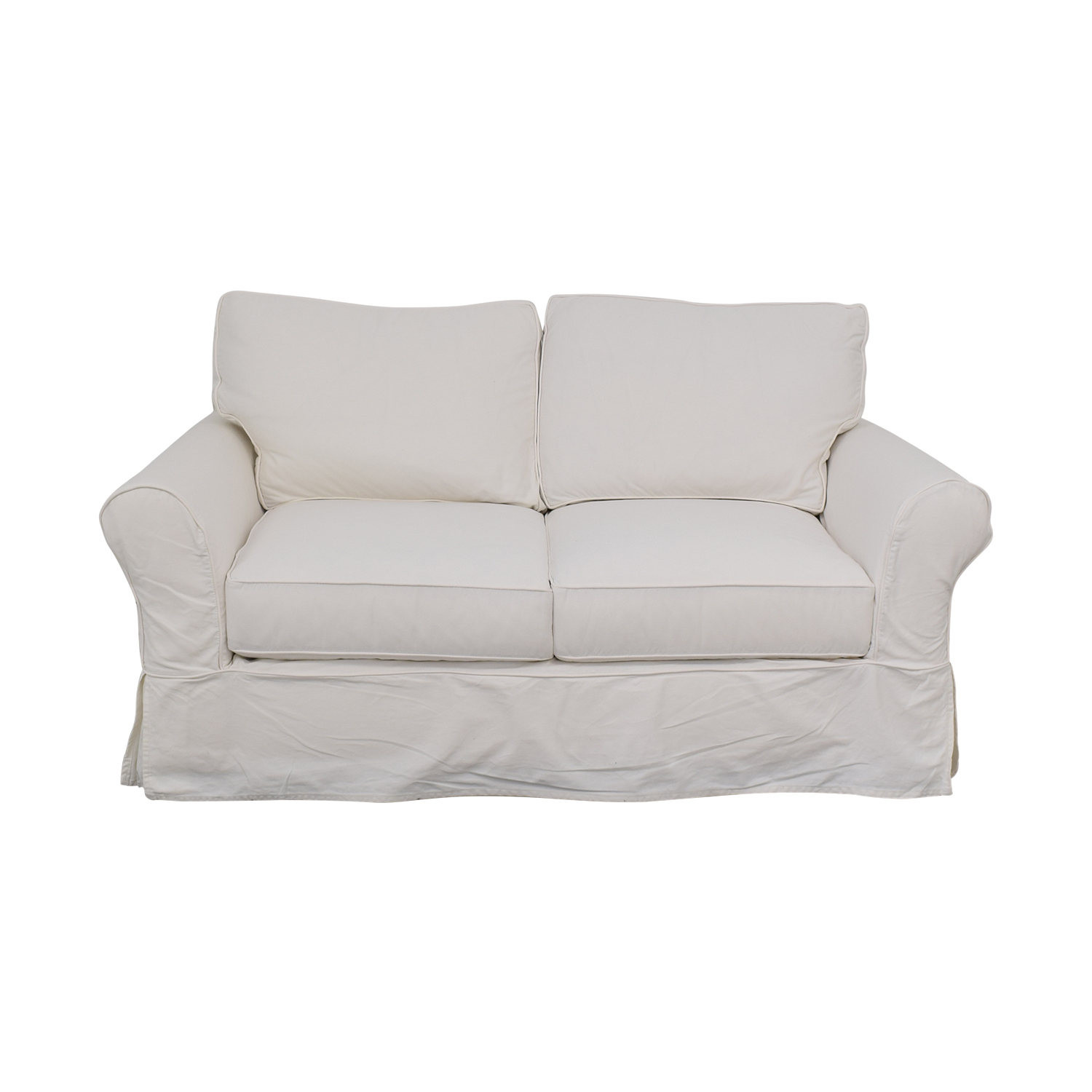 Awesome 80 Off Pottery Barn Pottery Barn Comfort Roll Arm Slipcovered Loveseat Sofas Ibusinesslaw Wood Chair Design Ideas Ibusinesslaworg
