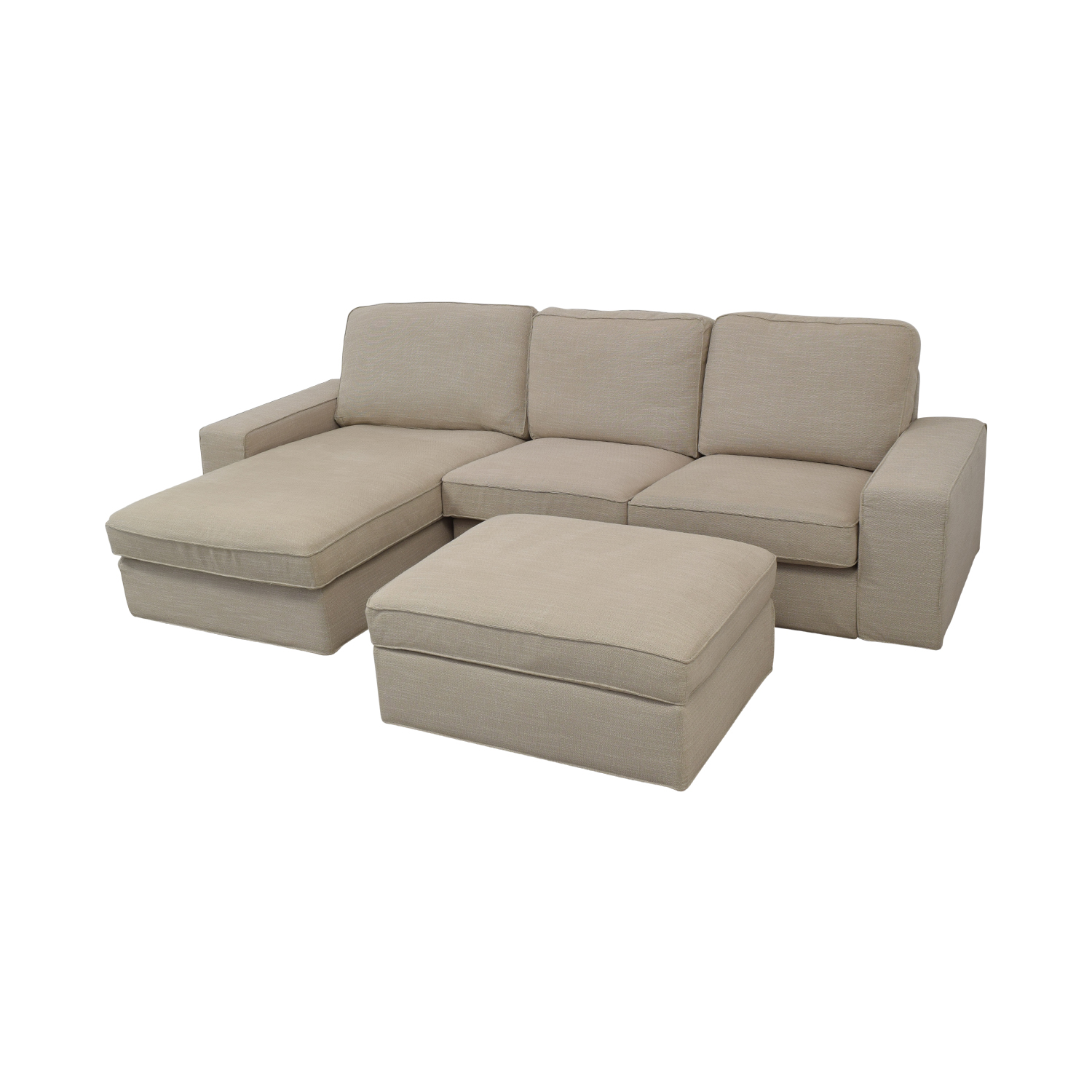 buy IKEA IKEA KIVIK Chaise Sofa with Ottoman online