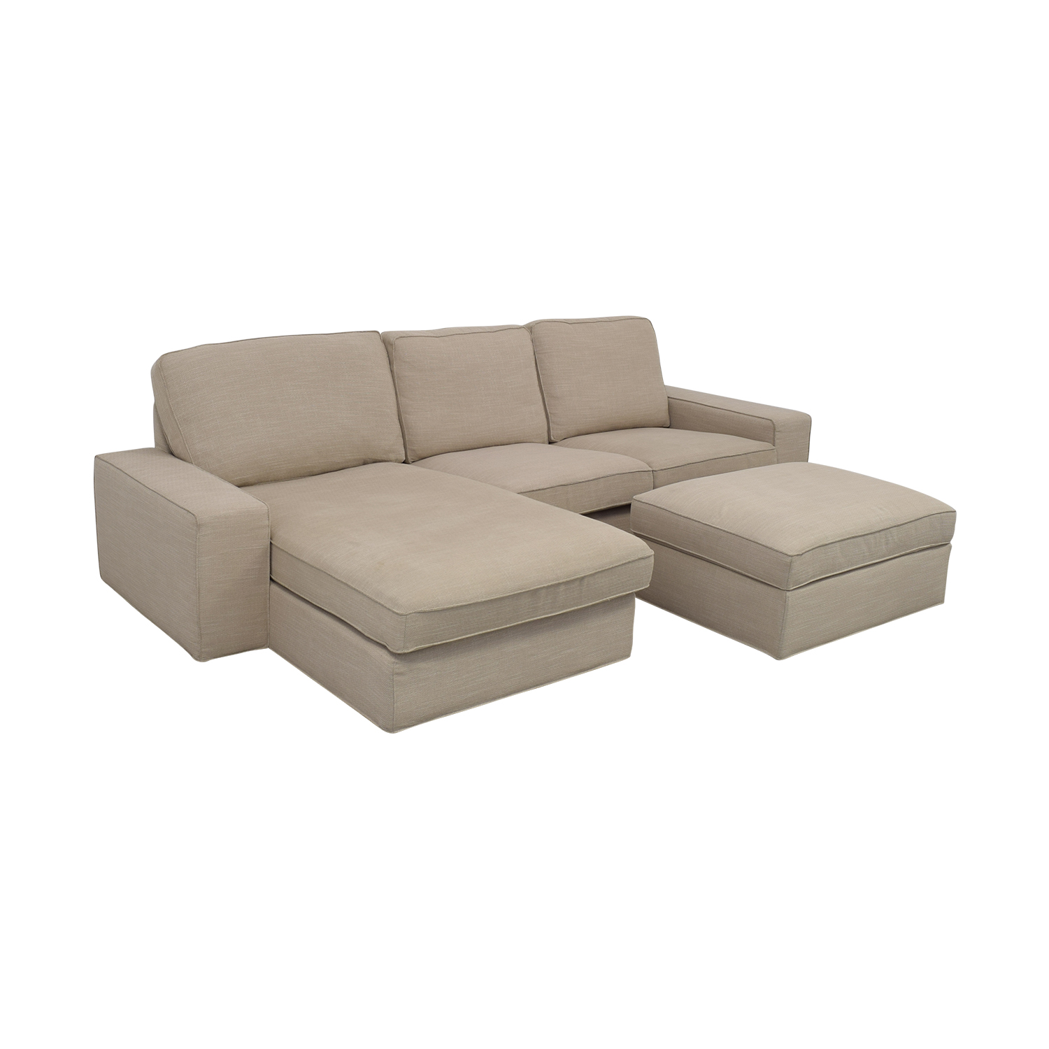 IKEA KIVIK Chaise Sofa with Ottoman sale
