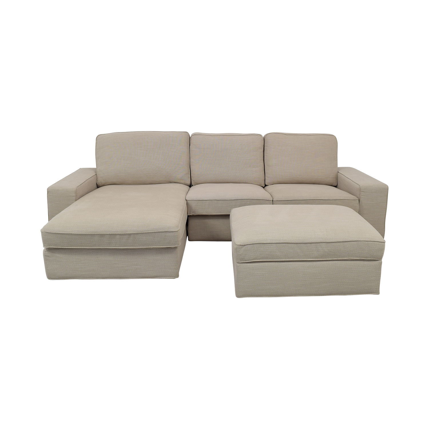 shop IKEA IKEA KIVIK Chaise Sofa with Ottoman online