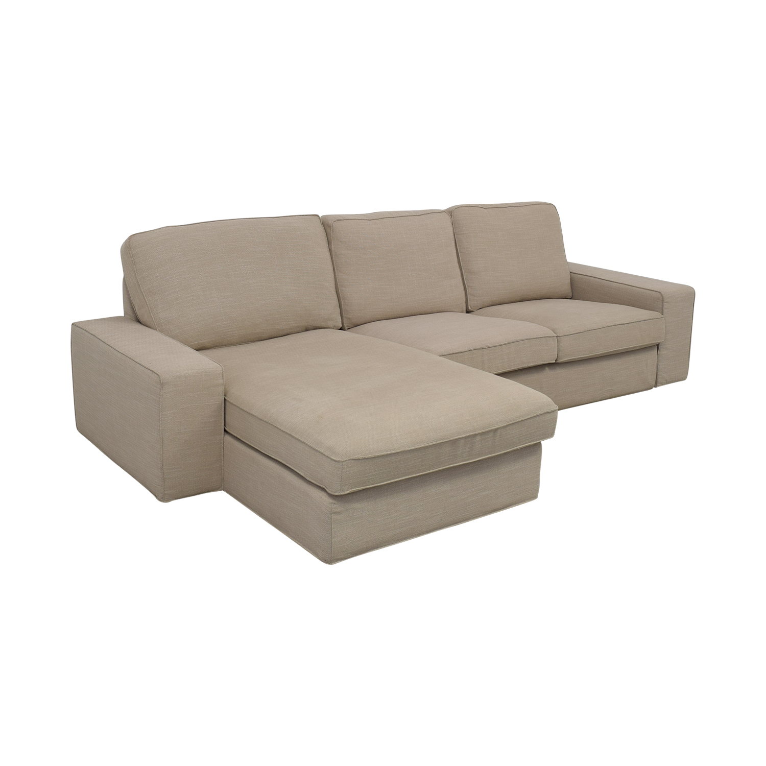 IKEA KIVIK Chaise Sofa with Ottoman / Sectionals