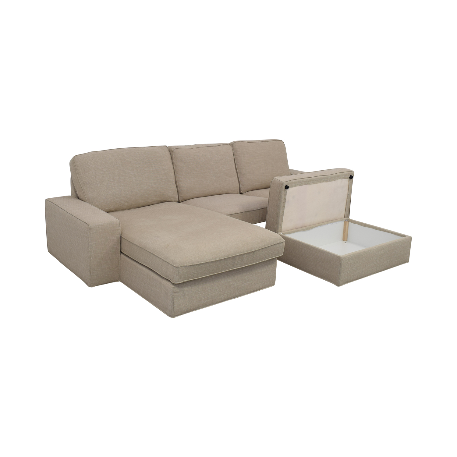 IKEA IKEA KIVIK Chaise Sofa with Ottoman discount