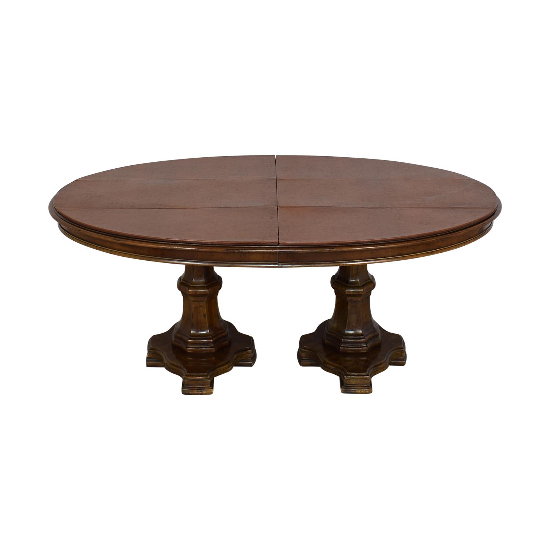 shop Drexel Heritage Grand Tour Double Pedestal Dining Table Drexel Heritage