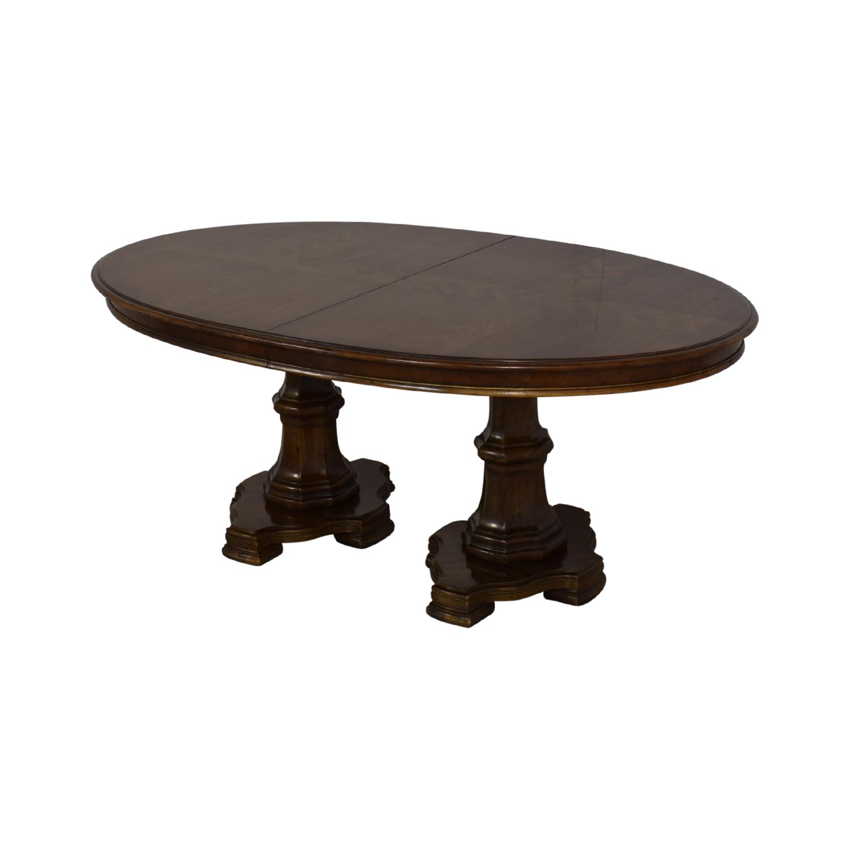 buy Drexel Heritage Grand Tour Double Pedestal Dining Table Drexel Heritage