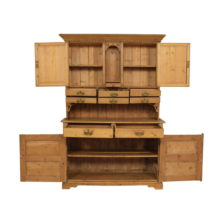 buy Antique Pine Hutch & Buffet ABC Carpet & Home
