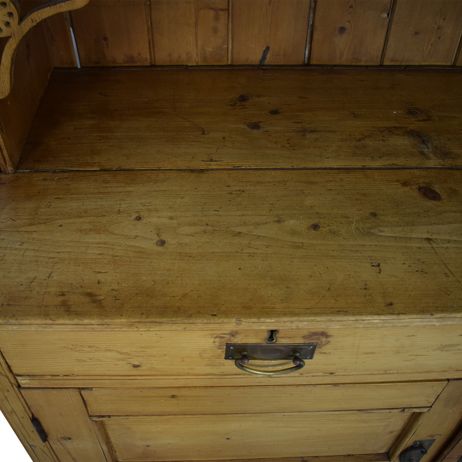ABC Carpet & Home Antique Pine Hutch & Buffet Cabinets & Sideboards