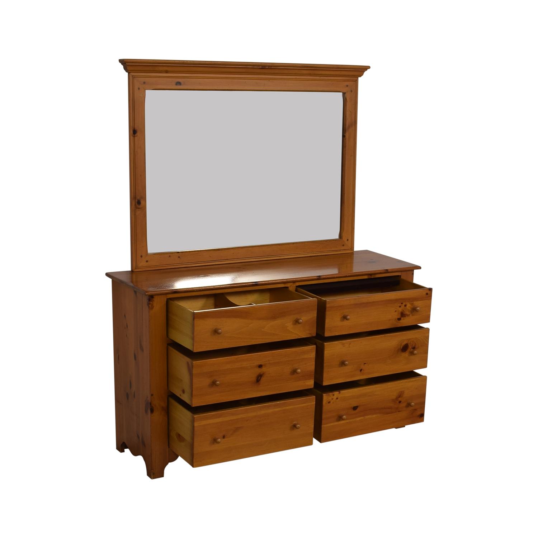 Ethan Allen Ethan Allen Pine Six Drawer Chest Storage