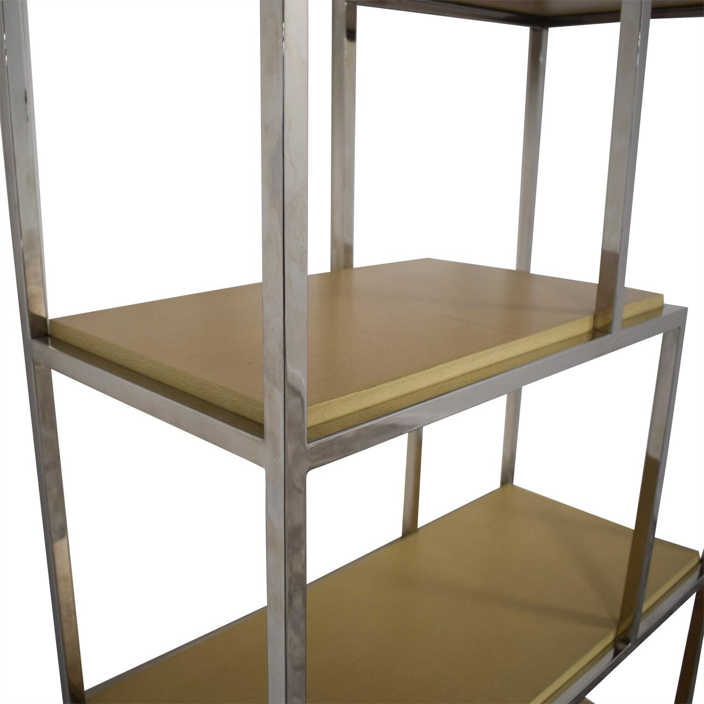 Mitchell Gold + Bob Williams Mitchell Gold + Bob Williams Bookcase brown & silver