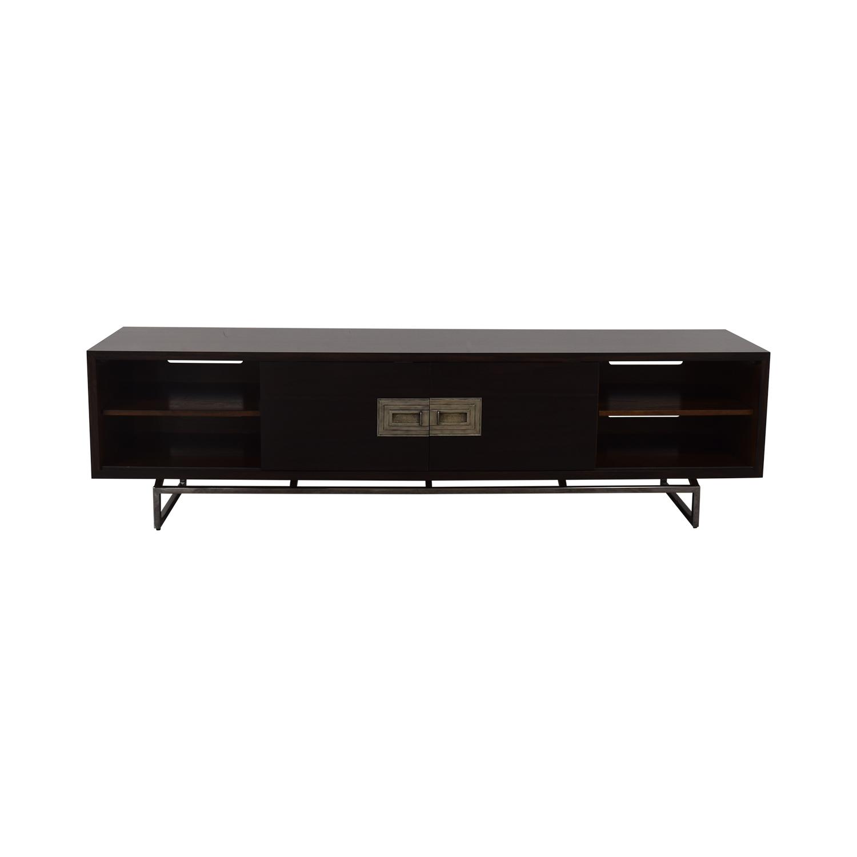 Century Furniture Century Furniture Chin Hua Turpan Low Entertainment Console dark brown