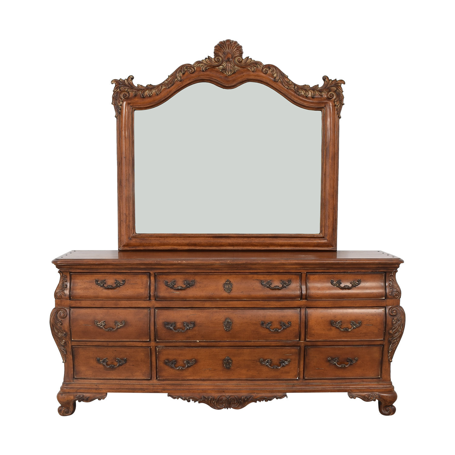 Thomasville Thomasville Chateau Provence Bombe Dresser and Landscape Mirror coupon