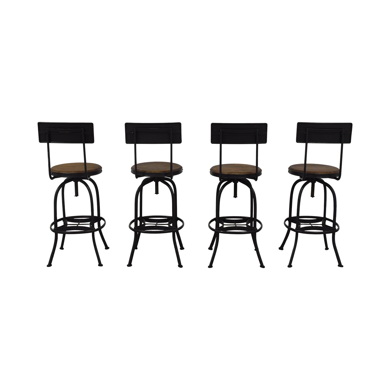 Ballard Designs Allen Swivel Bar Stools with Backrest / Chairs