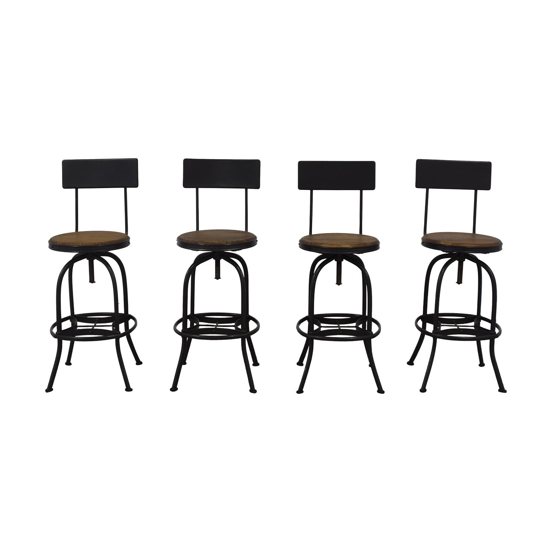 Ballard Designs Ballard Designs Allen Swivel Bar Stools with Backrest dimensions