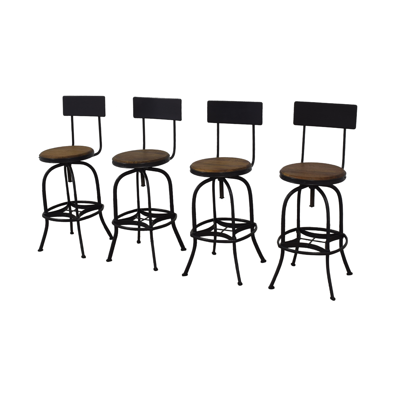 buy Ballard Designs Allen Swivel Bar Stools with Backrest Ballard Designs Stools