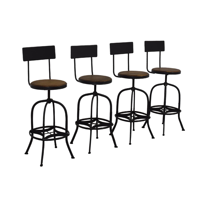 shop Ballard Designs Ballard Designs Allen Swivel Bar Stools with Backrest online