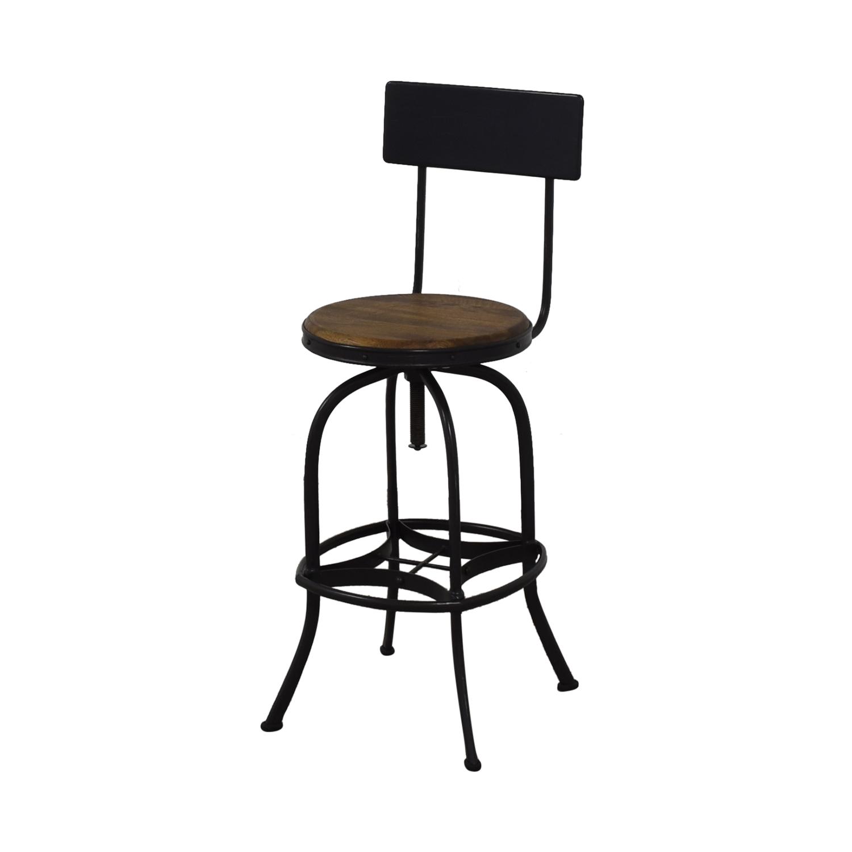 Ballard Designs Allen Swivel Bar Stools with Backrest / Stools