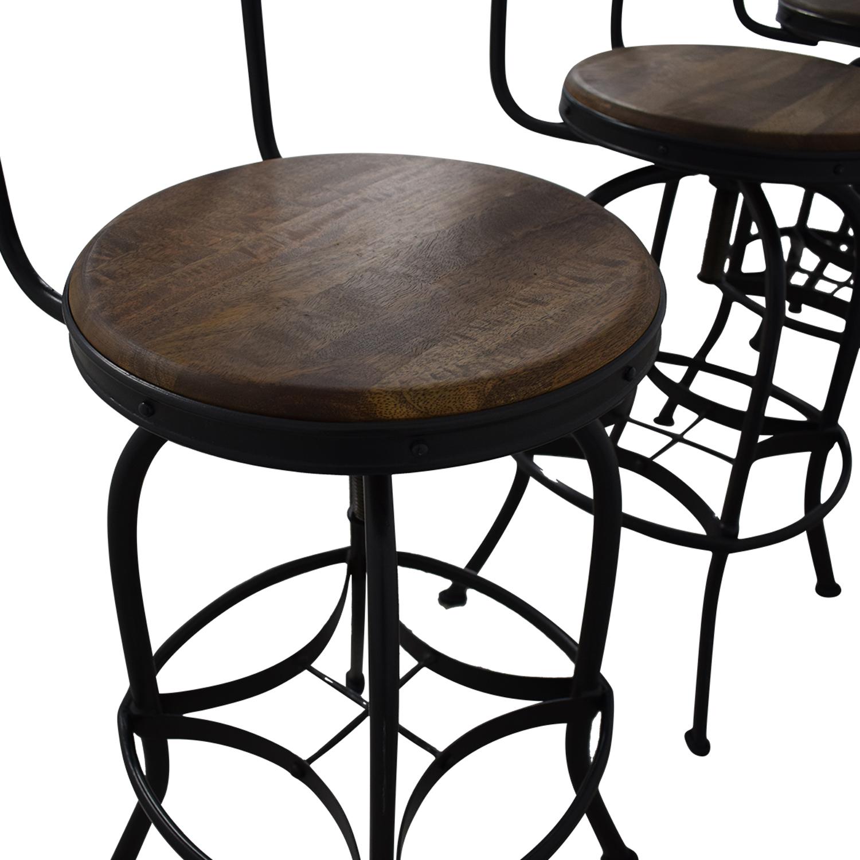 Ballard Designs Ballard Designs Allen Swivel Bar Stools with Backrest used