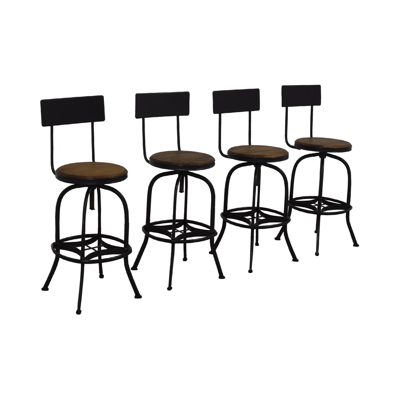 Ballard Designs Ballard Designs Allen Swivel Bar Stools with Backrest nj