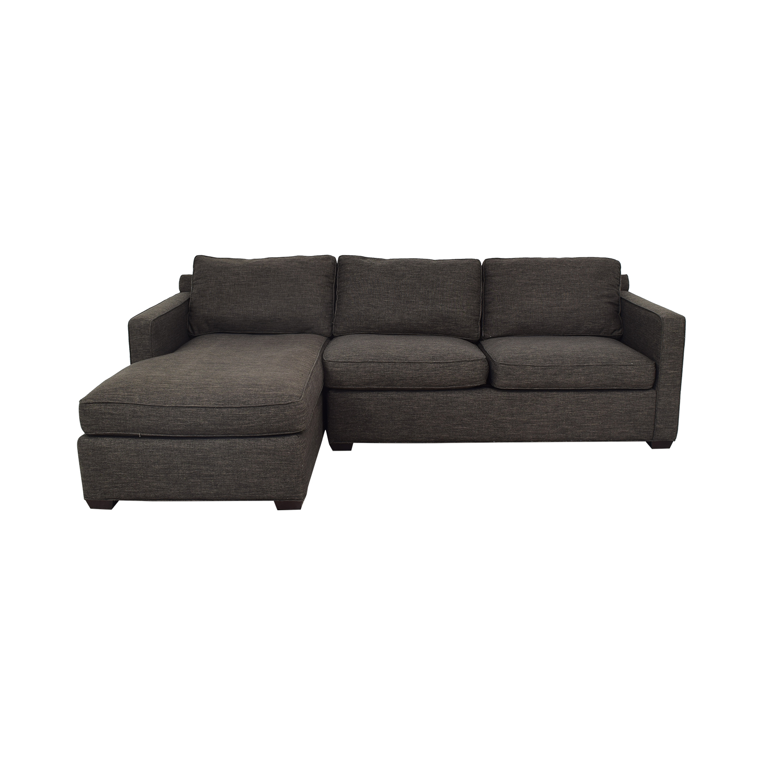 59% OFF - Crate & Barrel Crate & Barrel Davis Sectional Couch with Chaise /  Sofas