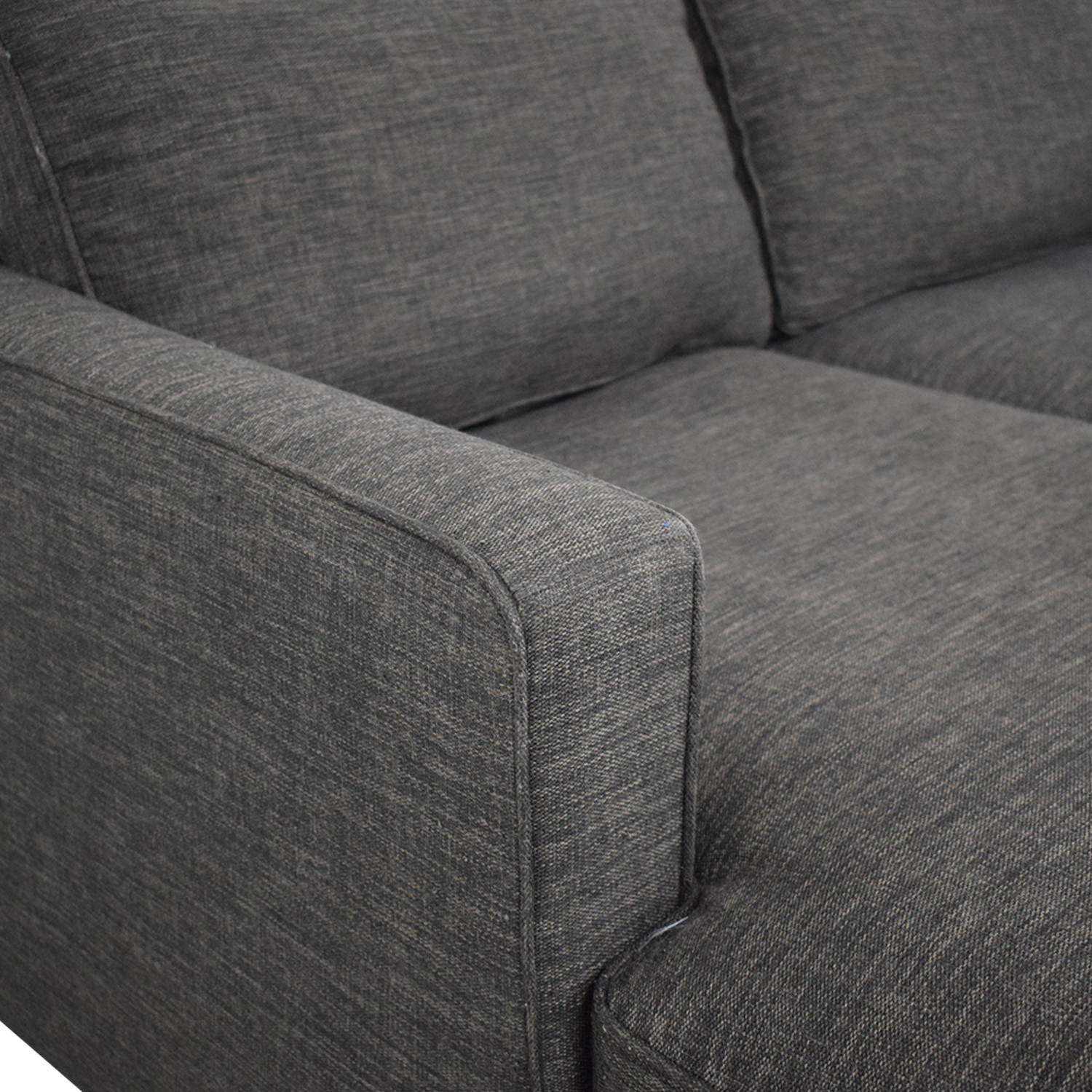 Crate & Barrel Crate & Barrel Davis Sectional Couch with Chaise dimensions