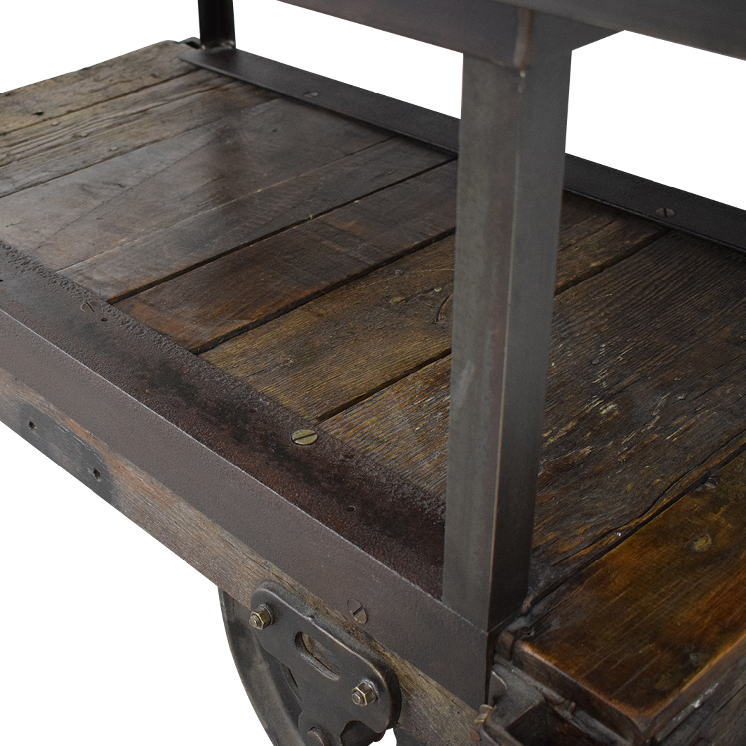 Rustic Wood Table Cart for sale