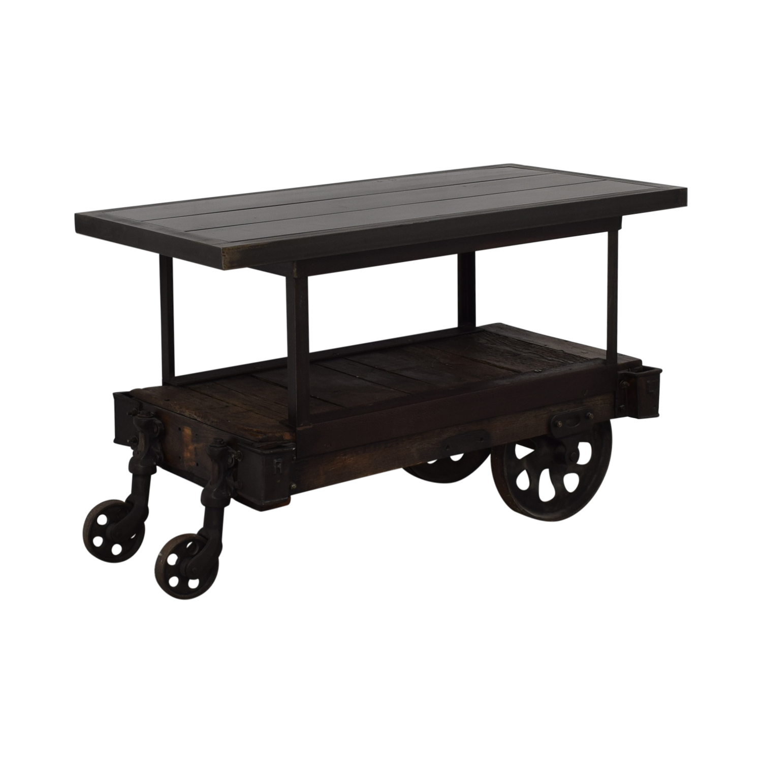 Rustic Wood Table Cart coupon