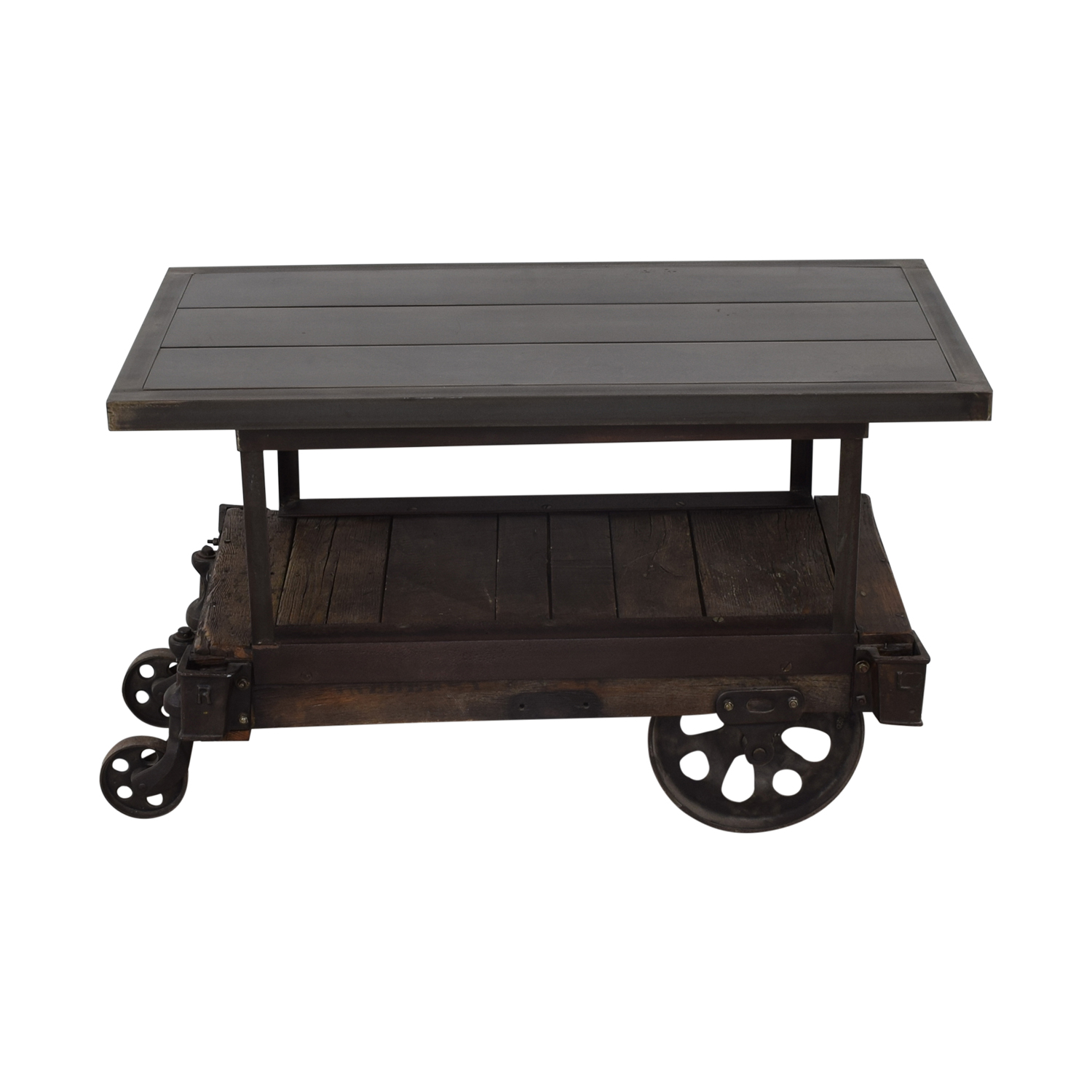 shop Rustic Wood Table Cart  Tables