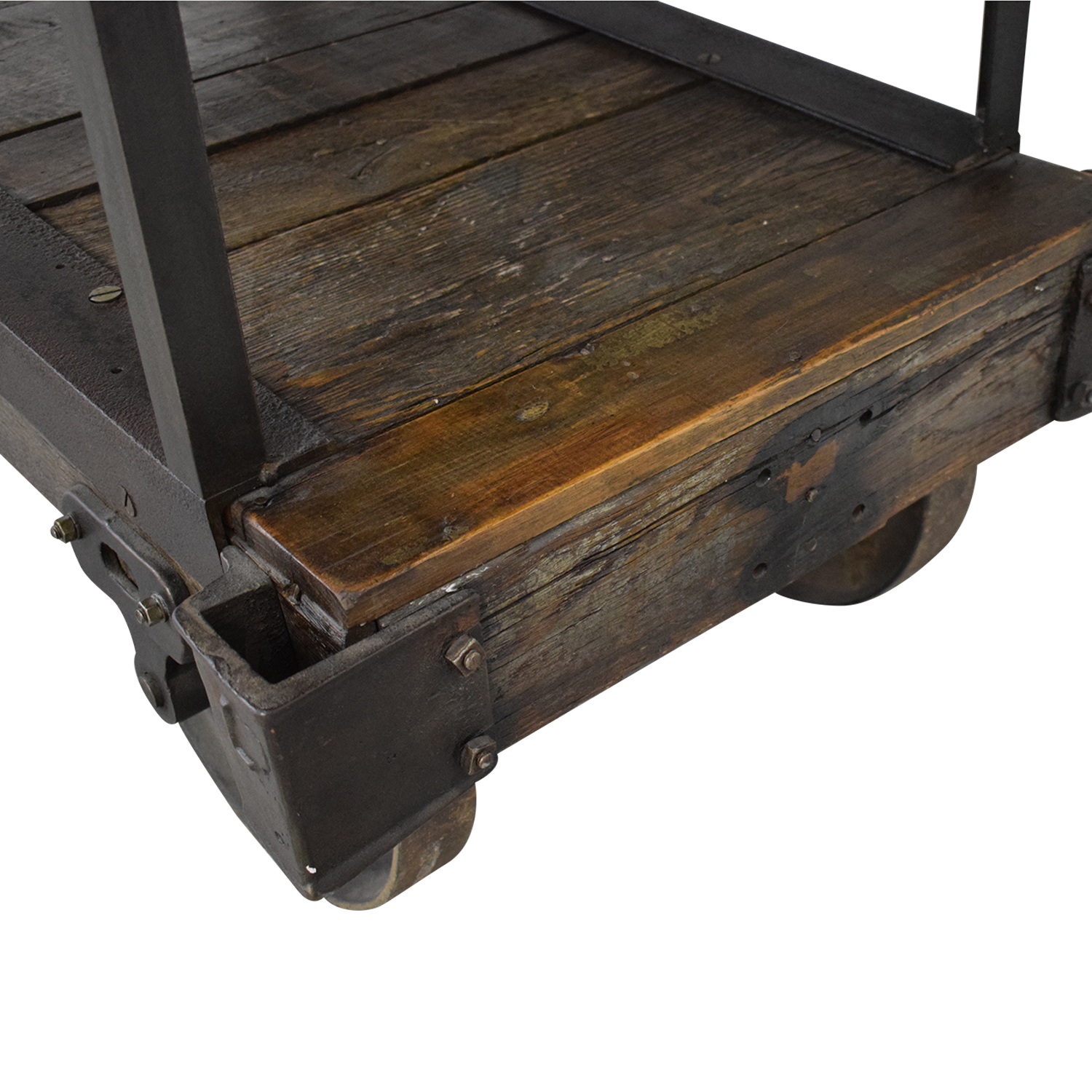 Rustic Wood Table Cart discount
