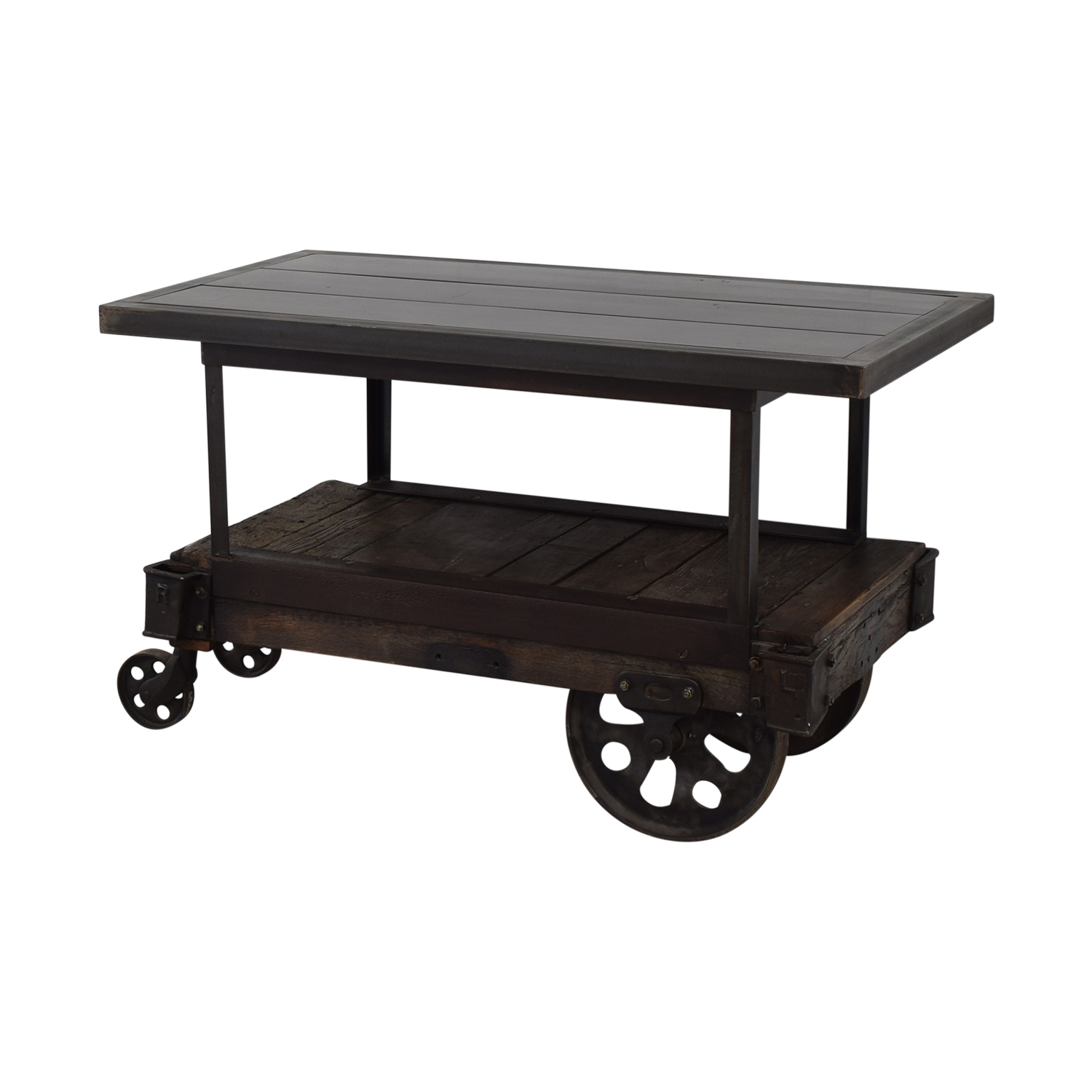 Rustic Wood Table Cart used