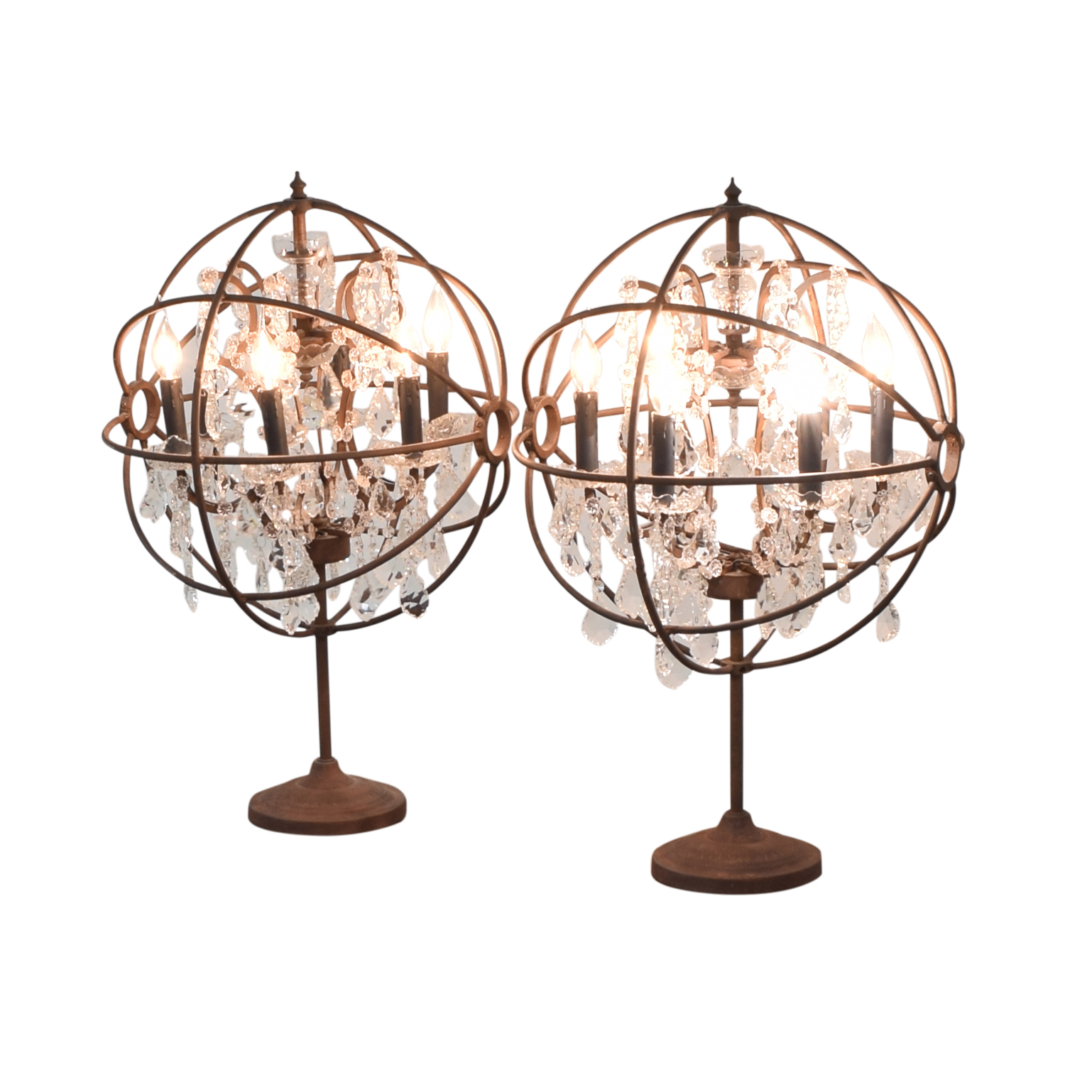 buy Restoration Hardware Orb Crystal Table Lamps Restoration Hardware Lamps