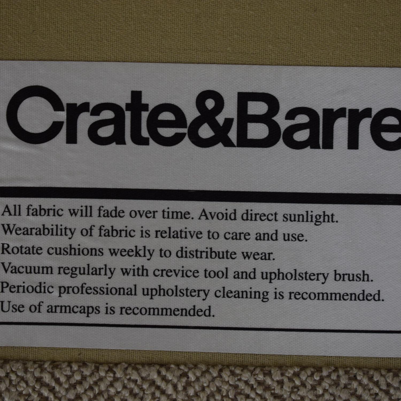 Crate & Barrel Crate & Barrel Milo Baughman Sofa dimensions