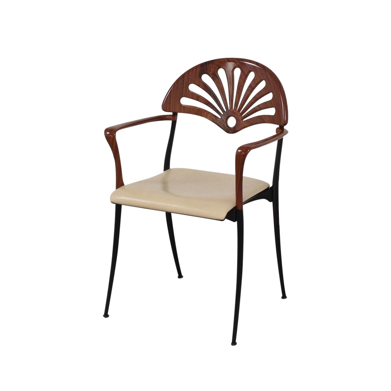 Italian Custom Dining Chairs brown, black, beige