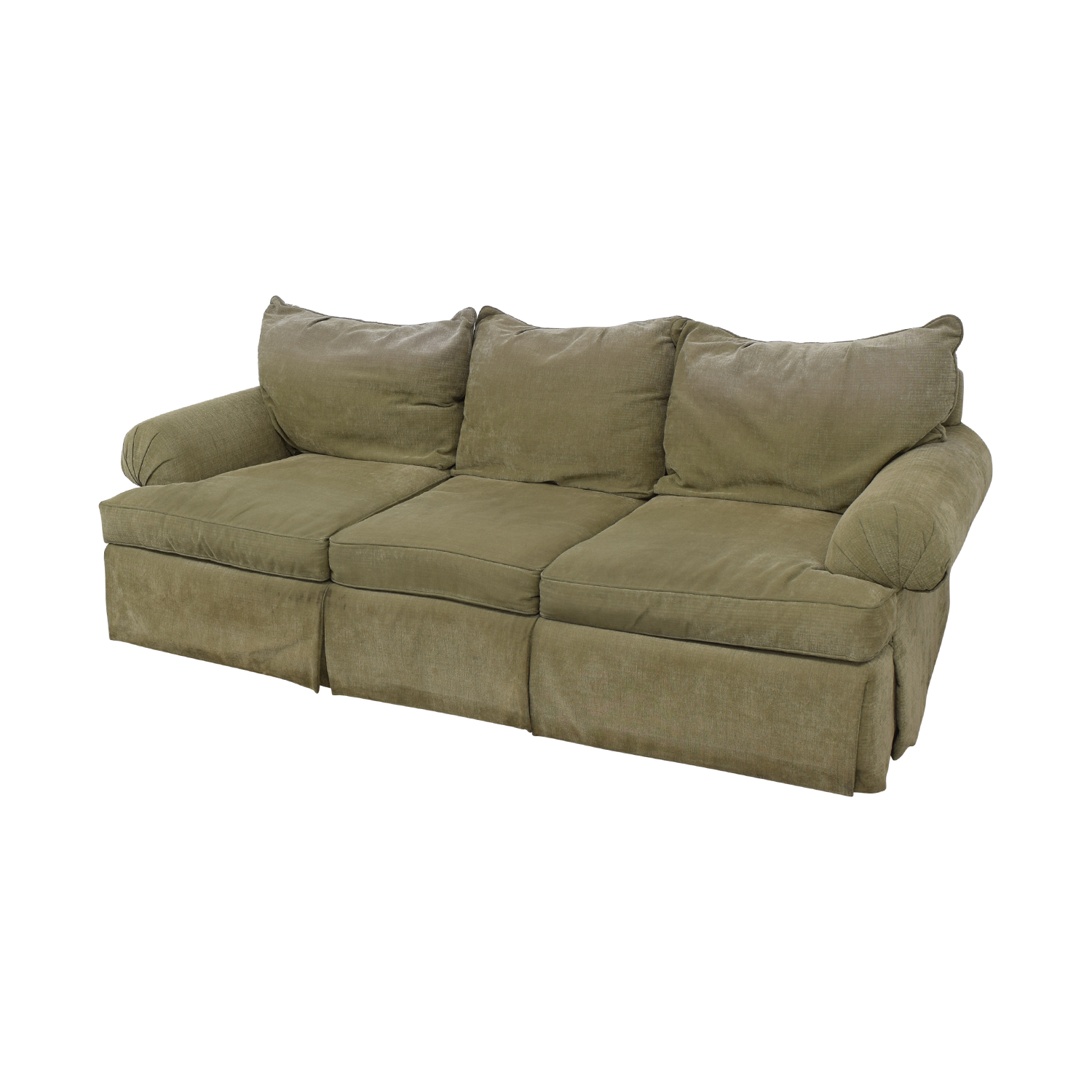 Bernhardt Bernhardt Three-Cushion Sofa dimensions
