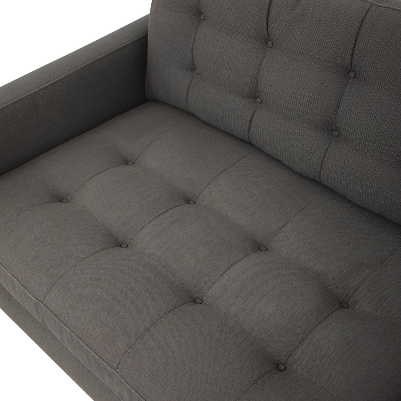 Crate & Barrel Petrie Mid Century Sofa sale